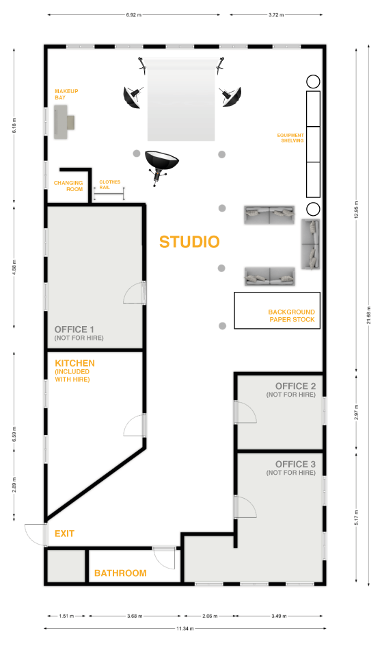 floor plan northern quarter photography studio facilities and space