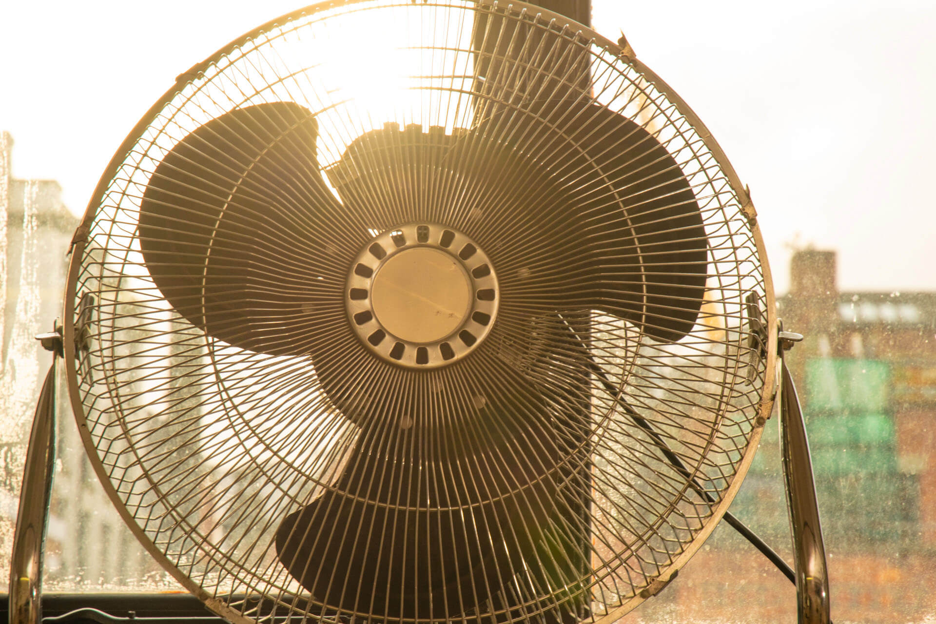 A large fan for studio photoshoots