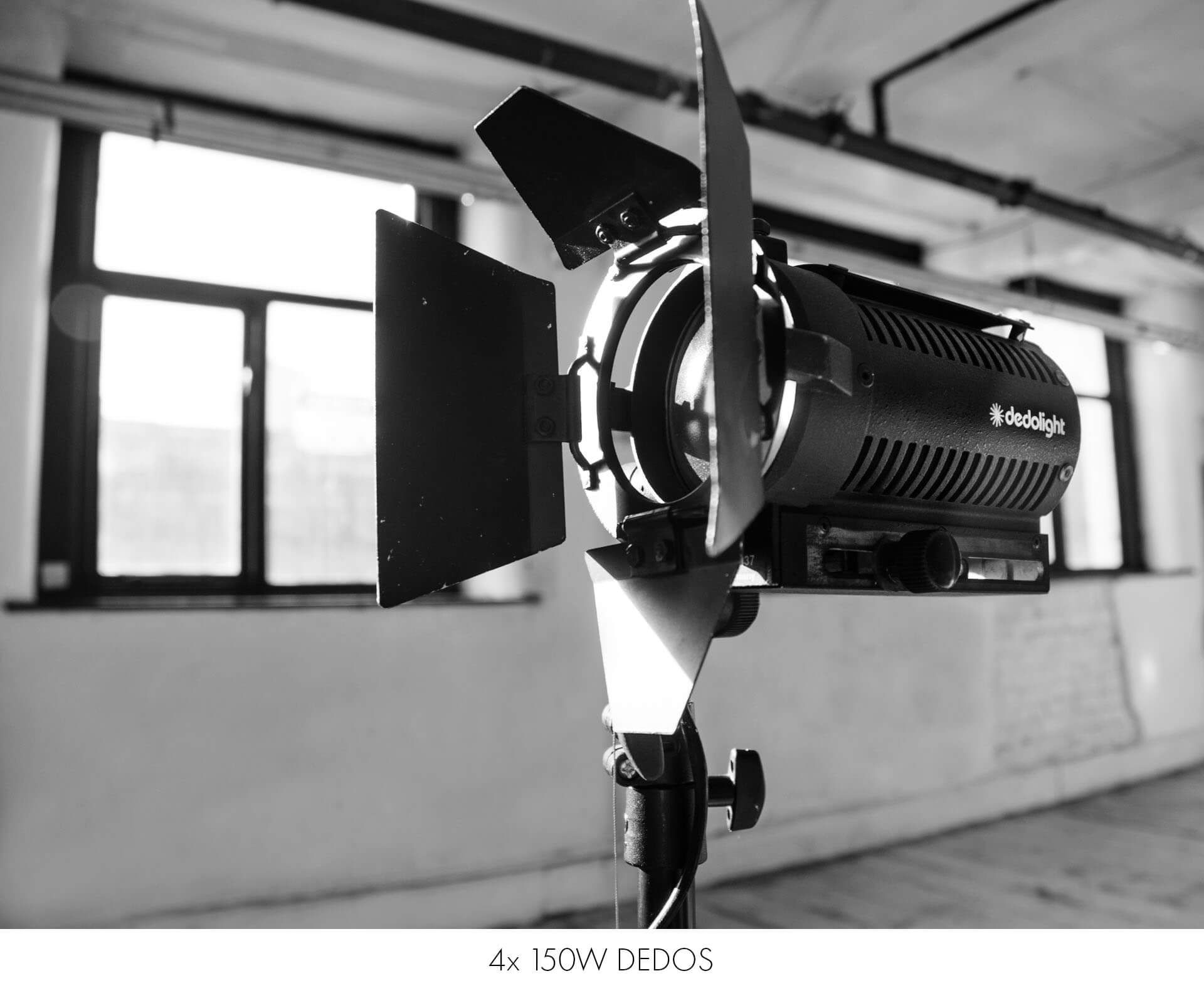 Dedo continuous light included in hire of photography studio Manchester