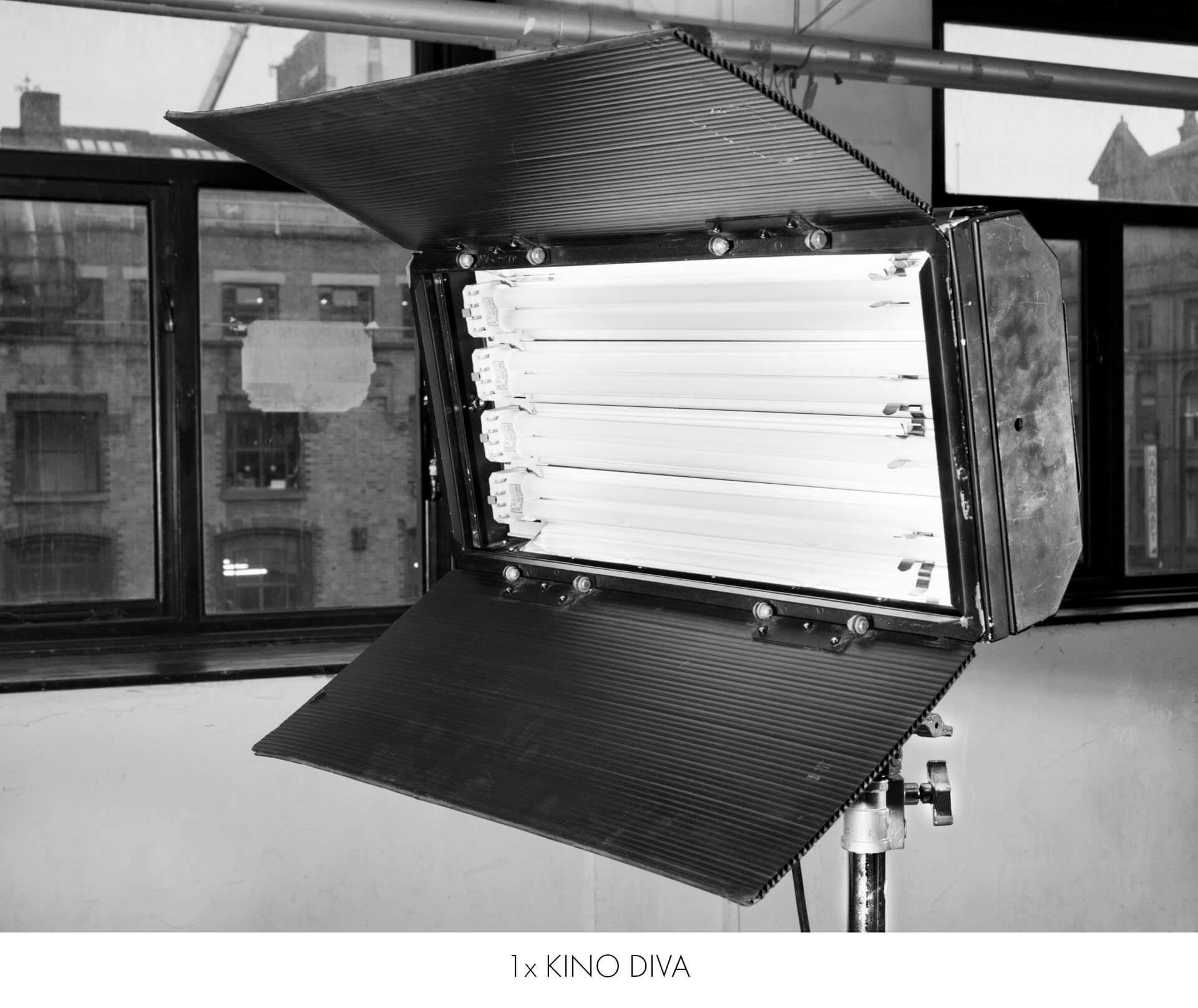 A kino diva and other continuous lighting included in hire costs